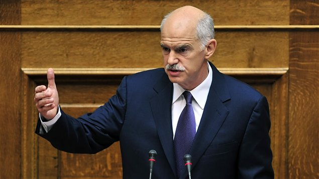 Le premier ministre grec, George Papandreou