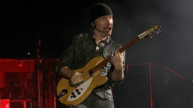 The Edge de U2 à Montréal