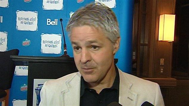 Le directeur général du Festival d'été de Québec, Daniel Gélinas