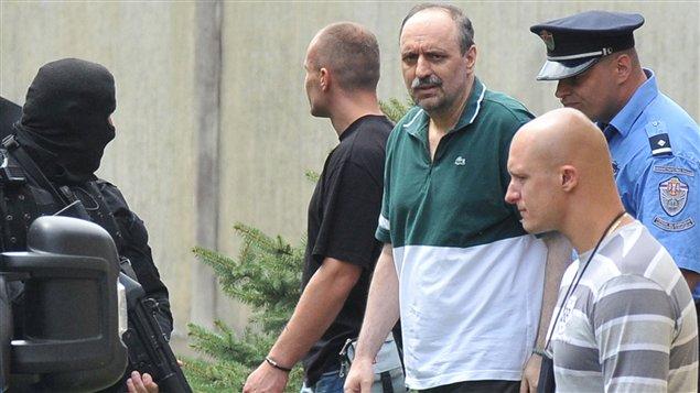 Goran Hadzic quelques heures avant son extradition à La Haye le 22 juillet.