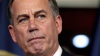 Le président de la Chambre des représentants, le républicain John Boehner, avant le vote tenu le 1er août