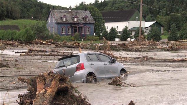 Séquelles des inondations en Beauce