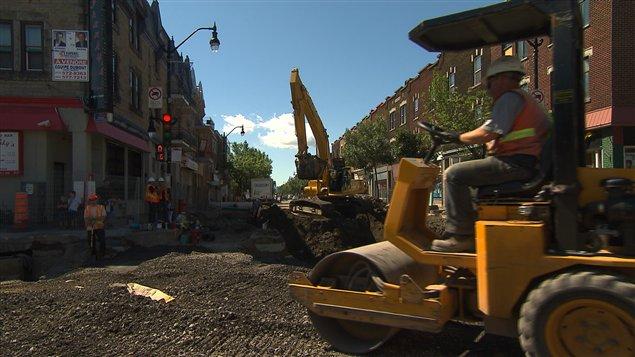 Construction à Montréal