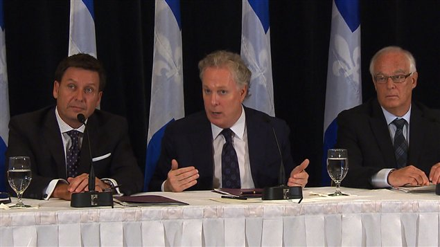 Pierre Moreau, Jean Charest et Robert Dutil