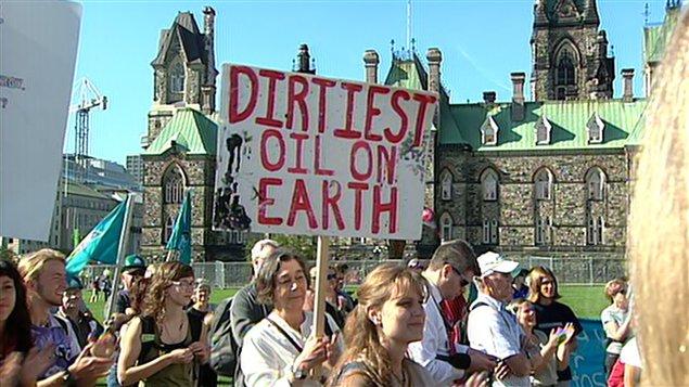 Manifestation contre les sables bitumineux à Ottawa