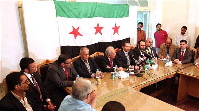 Le Conseil national syrien en réunion au Caire, en Égypte, le 10 octobre 2011.