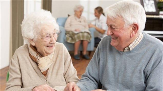 Des personnes âgées en résidence