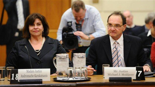 Les juges Andromache Karakatsanis et Michael Moldaver ont comparu devant un comité parlementaire.
