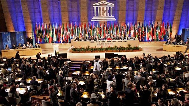 La Conférence générale de l'UNESCO a admis la Palestine comme État membre de l'organisation le 31 octobre 2011.