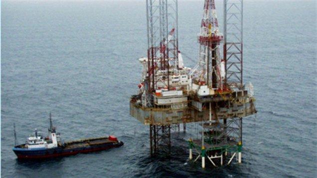 Une plateforme pétrolière de Shell dans le delta du Niger