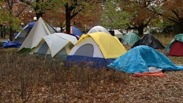 Les indignés d'Ottawa ont l'intention de passer l'hiver dans le parc de la Confédération.
