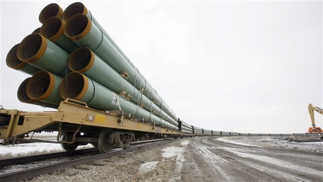 Des pipelines du projet d'oléoduc Keystone XL