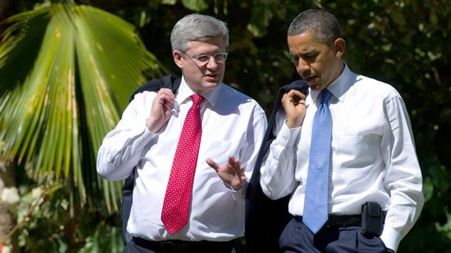 Stephen Harper et Barack Obama