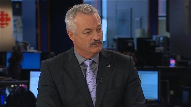 Le président de la Fédération des policiers et policières municipaux du Québec (FPMQ), Denis Côté.
