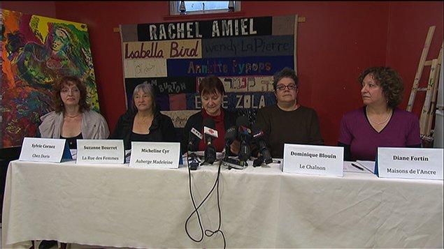 Cinq représentantes de refuges montréalais
