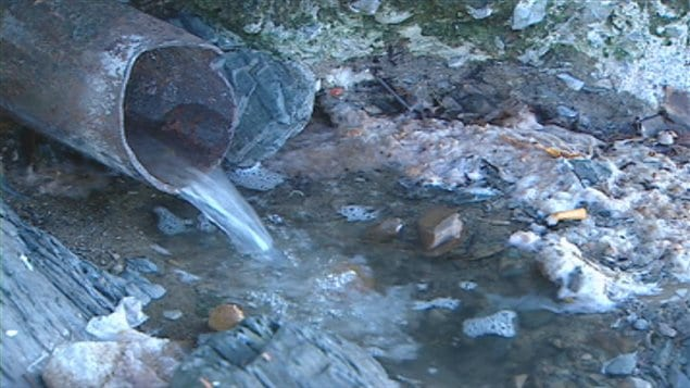 rejet d'eaux usées