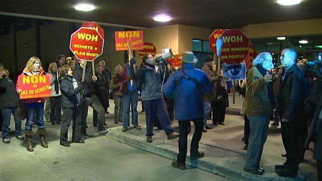 Manifestation à Saint-Hyacinthe