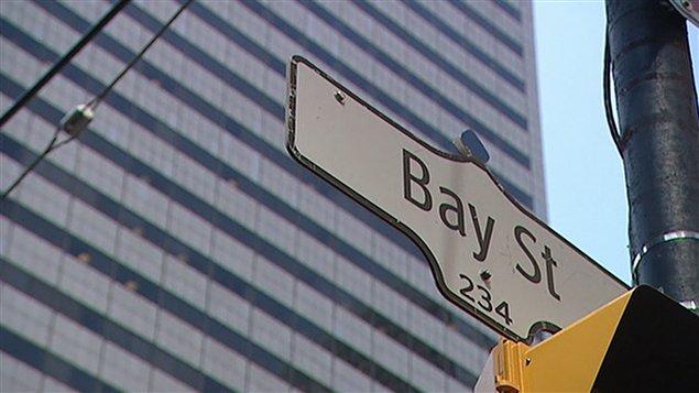 Rue Bay à Toronto