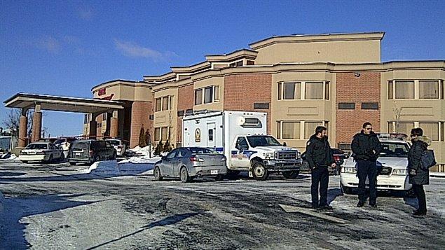 L'hôtel de Laval où le corps de Ian Davidson a été retrouvé sans vie mercredi matin.