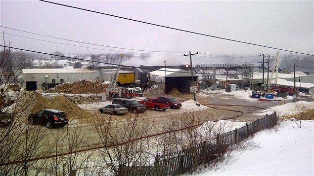 L'incendie à la scierie Eacom à Timmins