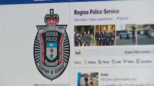 Police Regina médias sociaux