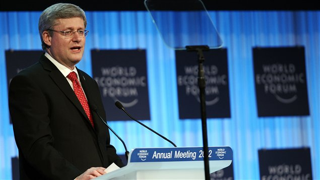 Stephen Harper à Davos