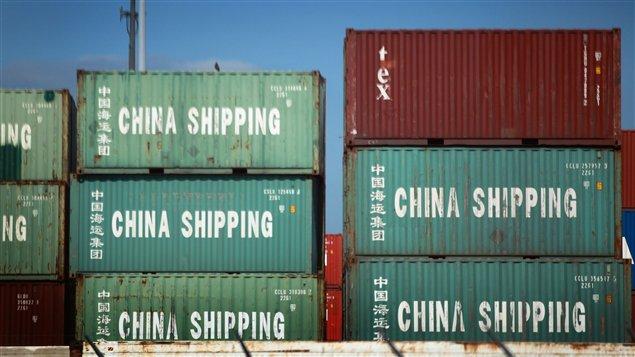 Des conteneurs de la Chine arrivés au port de Miami.