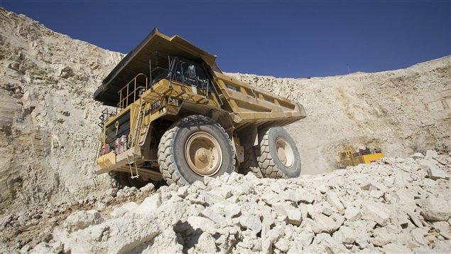 Une mine d'uranium canadienne.