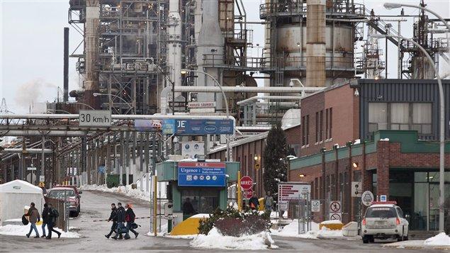 La raffinerie Shell en janvier 2010