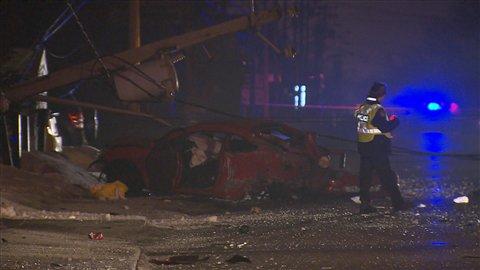 Un accident de la route fait un blessé à Longueuil