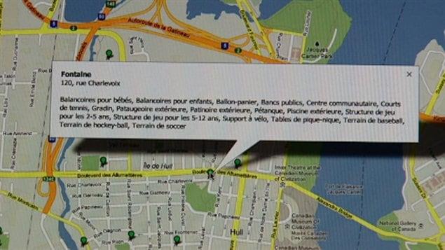 Carte de la ville de Gatineau