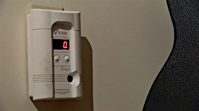 Un appareil de détection de monoxyde de carbone.