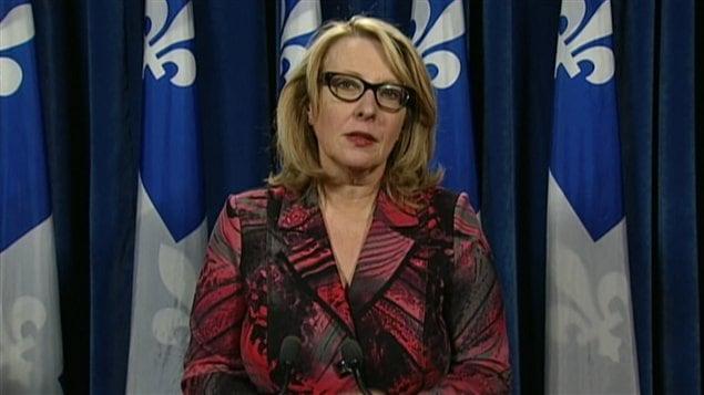 La ministre responsable de la Charte de la langue française au Québec, Christine St-Pierre