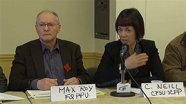 Max Roy, directeur de la FQPPU, et Carole Neill, directrice de la CPSU
