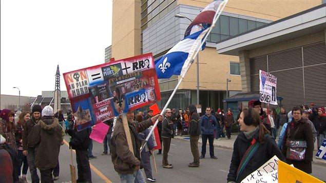 Manifestation étudiante à Laval.