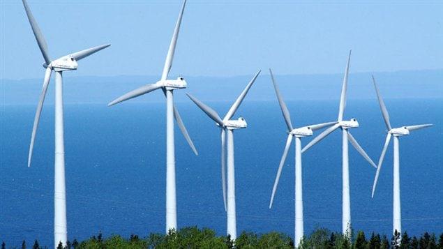 Un parc d'éoliennes