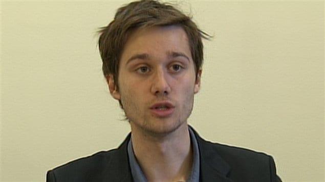 Le président de la Fédération étudiante collégiale du Québec, Léo Bureau-Blouin