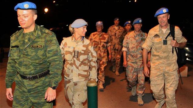 Observateurs onusiens à Damas, le 23 avril 2012