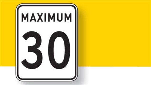 Limite de vitesse réduite