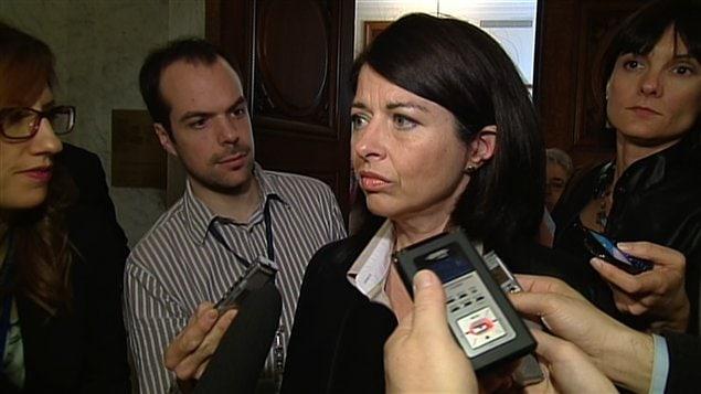 La ministre de l'Éducation, Line Beauchamp