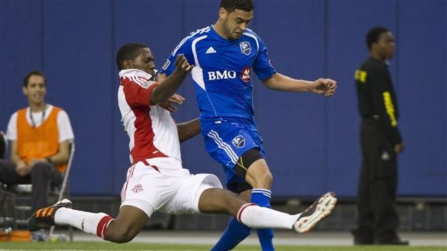 Joao Plata (Toronto FC) et Lamar Neagle de l'Impact