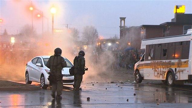 Émeute à Victoriaville
