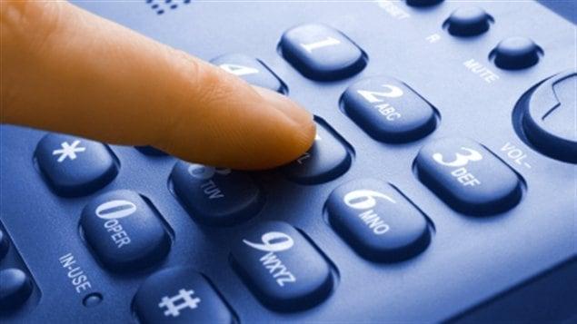 Un clavier de téléphone