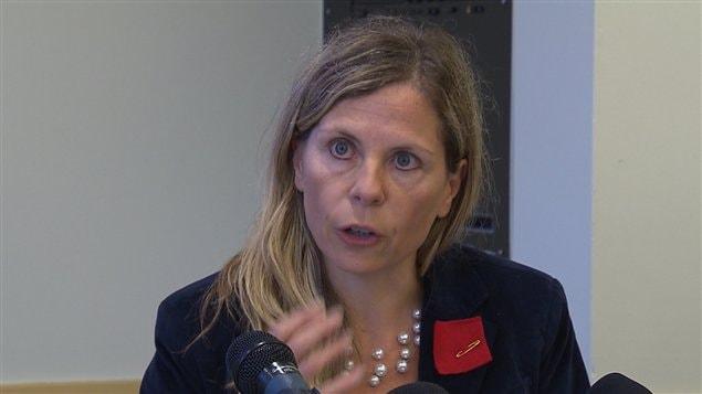 Johanne Nassrtom, porte-parole de la Coalition opposée à la tarification et la privatisation des services publics