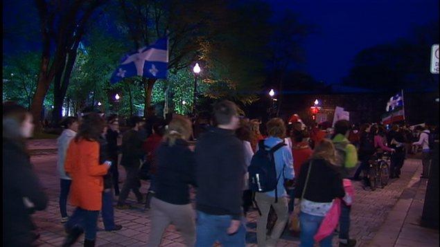 La manifestation à Québec.
