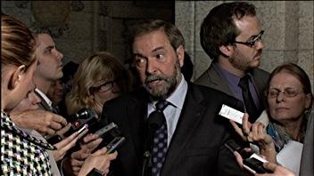 Le chef du Thomas Mulcair a réagi à la position des conservateurs au sujet de la nouvelle exposition au Musée des sciences et de la technologie d'Ottawa.