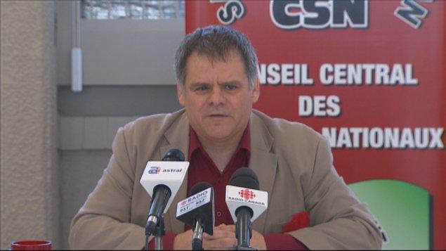 Le président du Conseil central de la CSN du Saguenay-Lac-Saint-Jean, Engelbert Cottenoir