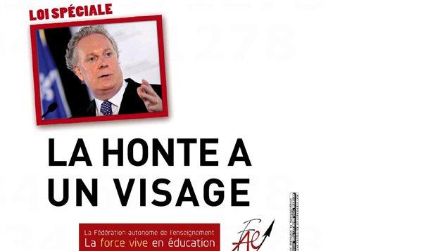 La publicité de la Fédéradion autonome de l'enseignement dans La Presse du samedi