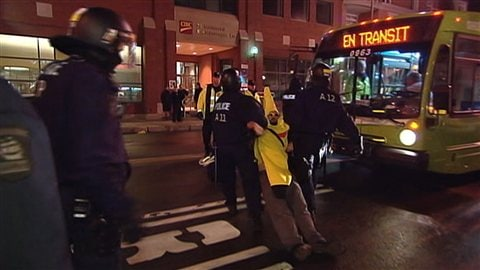 La banane rebelle a été arrêtée pour une deuxième fois à Québec.