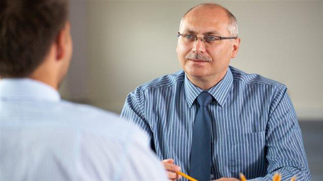 Une entrevue d'embauche